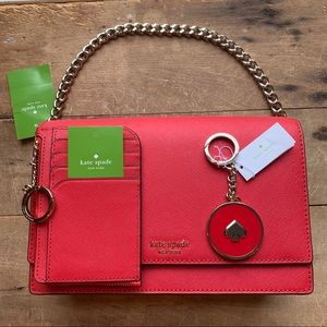 Cameron Hot Chili Crossbody Bag and Wallet Bundle